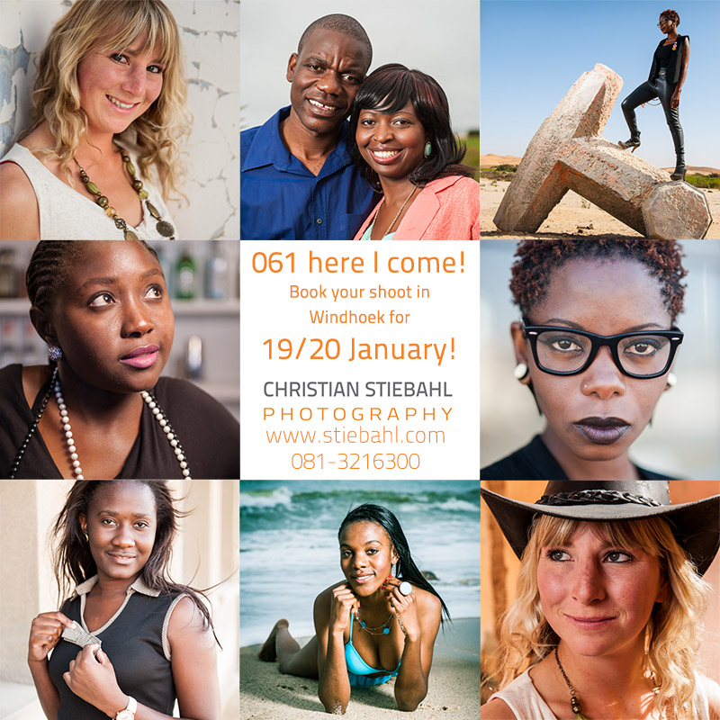 Book your photoshoot in Windhoek for 18th-20th of January!