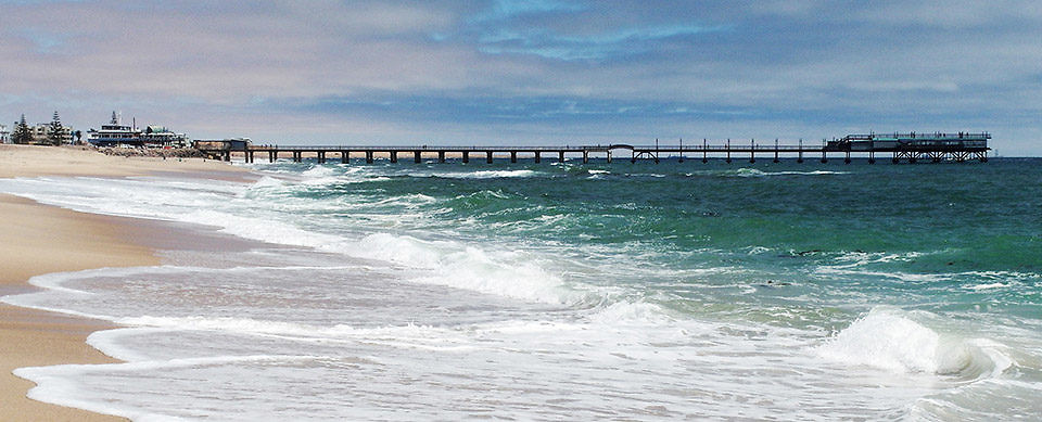 The jetty in Swakopmund, Namibia